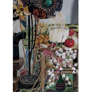 Wilde Lacerda - Flores e Frutas – 77 x 55 cm – OSE – Ass. CID e Dat. 1987
