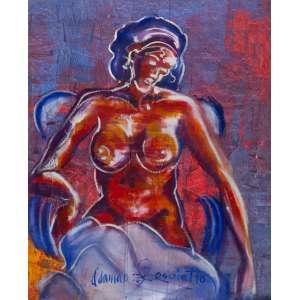 Odamar Persolatto - Nu feminino – 118 x 96 cm – Óleo sobre tela – Assinado meio inferior