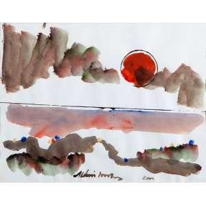 Aldemir Martins - Paisagem – 28 x 37cm – ASC – Ass. PIe Dat 2000 – Esta obra participouda última exposição individual do artista realizada numa galeria de arte