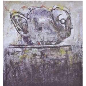 """Flavio Shiró - """"O Canto da Terra"""" Serigrafia 66 x 60 cm assinada - 1992 - Tiragem 150 Coleção Eco Art"""