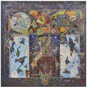 MIGUEL VON DANGEL- Sem título Serigrafia - 61 x 6o cm 1993 - assinada Tiragem 150 Coleção Eco Art