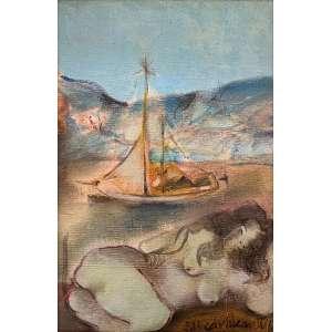 Edi Cavalcanti - Musa em Salvador – 24 x 16 cm – OST – Ass.CID e Dat.1967 – Participou do leilão da TNT Galeria de Arte