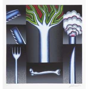 Antônio Henrique Amaral - Ameaça – 62 x 60 cm – Serigrafia – Tiragem de 150 – Ass.CID e Dat.1992