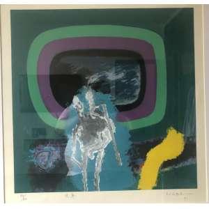 Manabu Mabe - Composição – 58 x 56 cm – Serigrafia 89/100 – Ass.CID e Dat.1991
