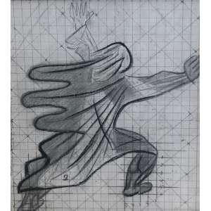 Cândido Portinari - Mulher clamando – 29 x 25 cm – Desenho a crayon – Assinado por Maria Vitoria Portinari na lateral esquerda – Esta obra foi estudo para o painel de azulejos da Igreja São Francisco de Assis em Belo Horizonte/MG – Acompanha certificado de autenticidade emitido pelo Projeto Portinari