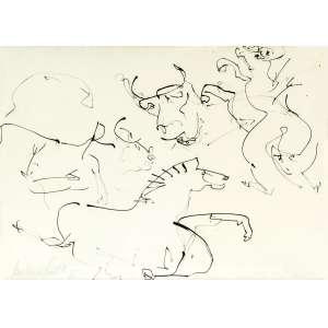 Amilcar de Castro - Animais – 44 x 62 cm – Nanquim – Ass. CIE e Dat. 1986