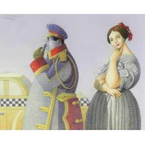 Caulos - 50 x 40 cm - Pastel Oleoso – Ass. Parte Inferior e Dat. 1995
