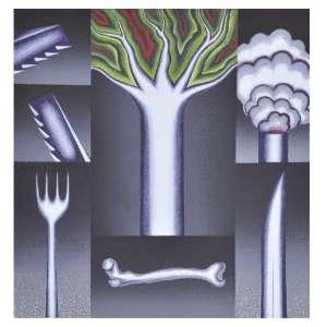 """Antônio Henrique Amaral - """"Ameaça"""" Serigrafia 62 x 60 cm assinada 1992 Tiragem 150 Coleção Eco Art"""