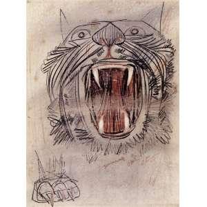 """Cândido Portinari Estudo para o painel """"Guerra e Paz""""- 27 x 20 cm – Crayon e sanguínea sobre papel – Ass.CID e Dat.1955 – Acompanha certificado do Projeto Portinari e está reproduzido no Raisonné"""