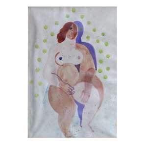 Ismael Nery Figura surrealista – 22 x 16 cm – Aquarela – Circa de 1928 - Esta obra participou do leilão da Soraia Cals em 15 e 16 de Maio de 2003