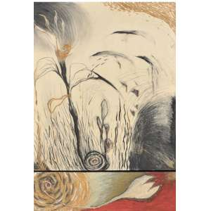 "Laura Anderson - ""Los Frutos Pasaran la Promessa de las Flores"" Serigrafia - 85 x 59 cm assinada - 1993 - Tiragem 150 Coleção Eco Art -"