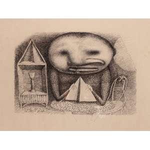 Marcos Coelho Benjamim - O rito - 38 x 50 cm – Nanquim sobre papel – Ass.CID e Dat.1982