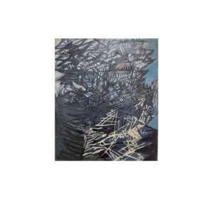 Frans Krajcberg - Raízes concretas – 60 x 50 cm – OST – Ass.CIE e Verso – Década de 50 – Participou do leilão da Lordello em 2019