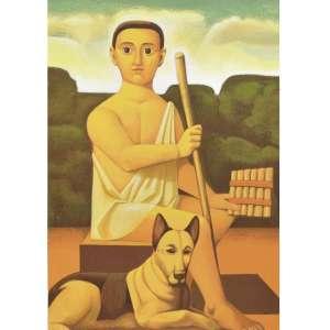 """Reynaldo Fonseca - """"Pastoral"""" Serigrafia - 80 x 56 cm assinada Tiragem 150 Coleção Eco Art"""