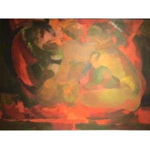"""ENRICO BIANCO - """"Nus""""- 40 x 50 cm – OSE – Ass.CID e Data 1965 – Reproduzido no livro do artista editado por Léo Cristiano"""