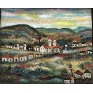 """CHANINA - """"Ouro Preto"""" 38 x 46 cm – OST – Ass.CID – Reproduzido no livro do artista escrito por Jacob Klintowitz na página 48"""