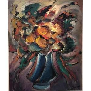 """CARLOS BRACHER - """"Flores da Vida I""""- 100 x 81 cm – OST – Ass.CID e Dat.2020 – Obra titulada pelo artista"""