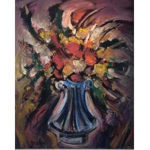 "CARLOS BRACHER - ""Flores da Vida II""- 100 x 81 cm – OST – Ass.CID e Dat.2020 - Obra titulada pelo artista"