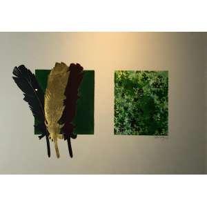 Décio Noviello - Amazônia – 50 x 72 cm – Aquarela e colagem sobre cartão – Ass.CID e Dat.1999