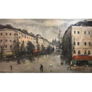 """SYLVIO PINTO - """"Paris""""-78 x 130 cm - Óleo sobre tela – Ass.CIE e Dat. 1957"""