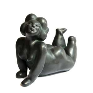 Diego Rodrigues - Charmosa – 70 cm de altura – Bronze reconstituído – Ass.Base