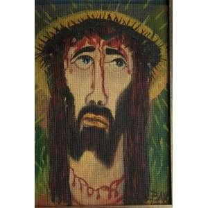 """PETRÔNIO BAX - """"Cristo""""- 28 x 19 cm – OSE – Ass.CID – Selo do atelier do artista no verso da obra"""