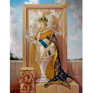 "PEDRO GUEDES - ""Dom Pedro II"" – 180 x 140 cm – OSLSM – Ass. PI e Dat. 2010"