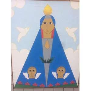 """ANTÔNIO MAIA - """"Nossa Senhora da Aparecida""""- 73 x 60 cm – AST – Ass.Verso e Dat.2004"""