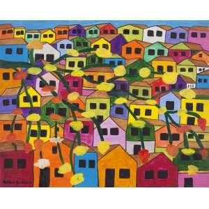 """ANTÔNIO EUSTÁQUIO - """"Favela"""" – 40 x 50 cm – OSE – Ass. CIE e Dat. 2011"""