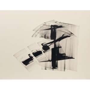 MARIA HELENA ANDRÉS - Abstração - 50 x 60 cm – Nanquim sobre papel – Ass.CID e Dat.2008