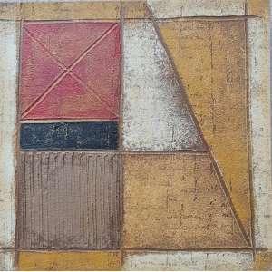 ANGÉLICA COELHO - Fragmentos de paisagem mineira – 40 x 40 cm – AST – Ass.Verso e Dat.2000