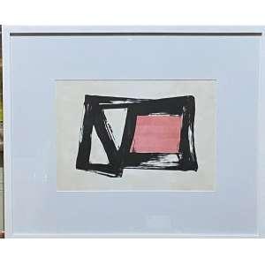 """Amílcar de Castro - """"Composição"""" - 35 x 50 cm - Litografia P.I - Ass.CID e Dat.1988"""