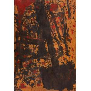 Artur Barrio - Abstração – 111,5 x 76 cm – TM – Ass. CSD e Dat. 2001