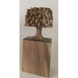 """José Bento - """"Árvore"""" - 20 cm de altura - Escultura em madeira - Ass.Base e Dat.2020"""