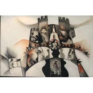 "Yara Tupynambá - ""Torre de Babel""- 110 x 160 cm – ASM – Ass.CIE e Dat.1970"