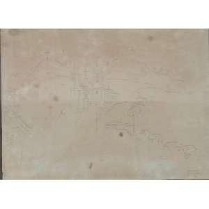 Alberto da Veiga Guignard - Ouro Preto - Desenho a grafite - Assinatura canto inferior direito