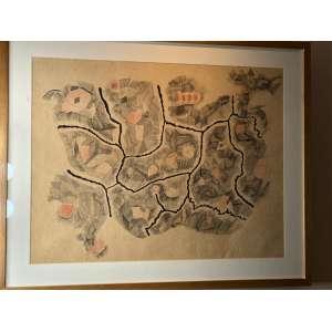 Arnaldo Pedroso D'horta - Série Esqueleto – 46 x 61 cm – Aquarela e nanquim sobre papel – Ass.CID e Dat.1954 – Em 1953, o Arnaldo recebe o prêmio de melhor desenhista nacional na 2ª Bienal Internacional de São Paulo. Publica, em 1954, o álbum 20 Desenhos