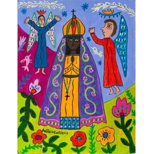 Antônio Eustáquio - Nossa Senhora Aparecida- 51 x 39 cm – Óleo sobre eucatex – Assinatura canto inferior esquerdo e Data 2020
