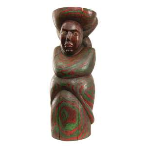 Maurino de Araújo - O Príncipe- 100 cm de altura - Escultura em madeira policromada - Assinatura base e Data 1998