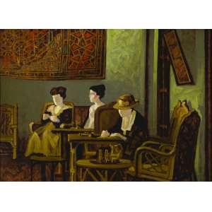 Juarez Machado - Chá da tarde- 73 x 100 cm - Óleo sobre tela - Assinatura canto inferior esquerdo e Data 1988 - Paris