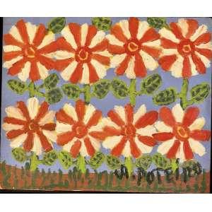 Antônio Poteiro - Flores - 25 x 30 cm - Óleo sobre tela - Assinatura canto inferior direito e Data 2007