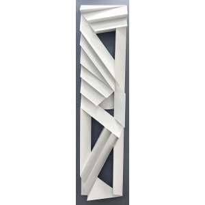 EMANOEL ARAUJO - Sem titulo - escultura de madeira em relevo pintada - 220 x 50 cm - assinada no verso 2016.