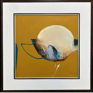 MABE, Manabu - Abstrato - óleo sobre tela - 51 x 51 cm - a.c.i.d. 1977 - obra registrada no instituto Mabe.