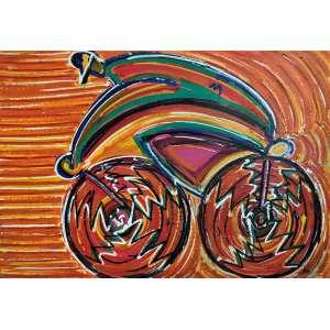 GERCHMAN, Rubens - Ciclista em São Paulo - óleo sobre tela - 90 x 128 cm - a.c.i.d. 2005