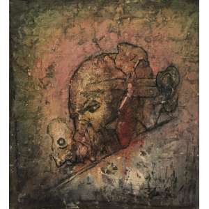 FLAVIO SHIRÓ - Sem titulo - óleo sobre tela - 60 x 54 cm - a.c.i.d. 1980/81 - Paris.