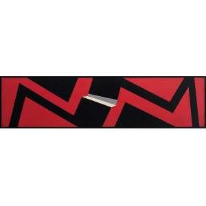 VALDEIR MACIEL - Sem titulo - acrílica sobre tela - 30 x 120 cm - assinado verso 1980.