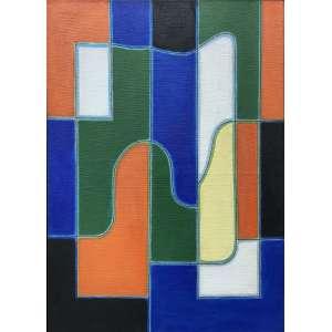DIONÍSIO DEL SANTO - Sem titulo - óleo sobre tela - 140 x 100 cm - ass. no verso 1997 - obra reproduzida no catalogo da exposição Mais da justa visibilidade - realizada em 2010, acompanha o catalogo.