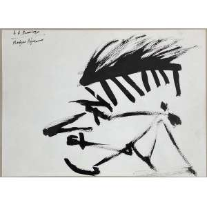 ARTUR BARRIO - Marfim Africano - guache sobre papel - 24 x 31 cm - a.c.s.e. 1980