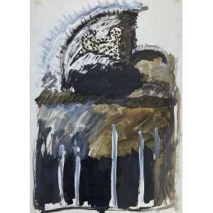 ARTUR BARRIO - Sem titulo - técnica mista sobre papel - 70 x 50 cm - a.c.s.d. 1974