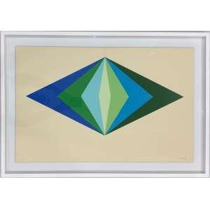 BARSOTTI, Hércules - Plano repartido I - serigrafia a 7 cores sobre cartão 65/95 - 47 x 73 cm - a.c.i.d. 1974 - Obs: com etiqueta da Galeria Global no verso assinada pelo artista.